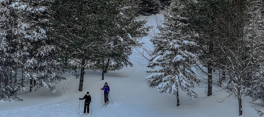 Cross-Country Skiing in Mt. Van Hoevenberg, Lake Placid, New York